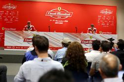 Conferencia: Sebastian Vettel, Ferrari y Kimi Raikkonen, Ferrari