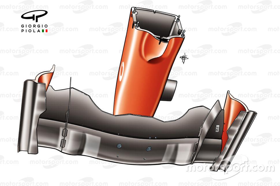 Ferrari F2004 front wing