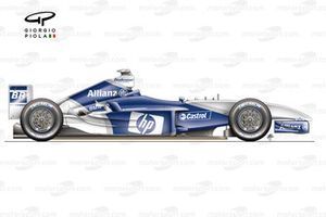 Williams FW25B side view (Tested at Barcelona)