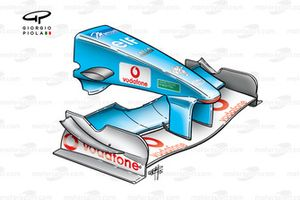 Benetton B201 2001 front wing and nose