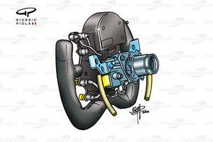 Jordan EJ10 2000 Trulli steering wheel