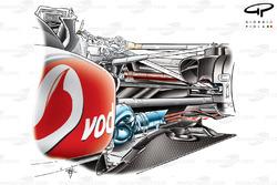McLaren MP4-25 blown diffuser detail