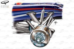 Red Bull RB6 front brake assembly