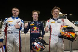 1er Pierre Gasly, PREMA Racing, 2e Sergey Sirotkin, ART Grand Prix & 3e Artem Markelov, RUSSIAN TIME
