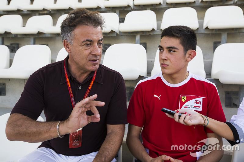 Jean Alesi con il figlio, Giuliano Alesi, Trident