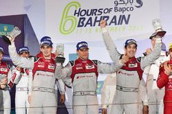 LMP1 Podium: race winners #8 Audi Sport Team Joest Audi R18: Lucas di Grassi, Loic Duval, Oliver Jar
