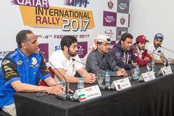 المؤتمر الصحفي للسائقين المشاركين في رالي قطر 2017