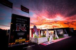 Sunset over the Nissan Motorsport fans area