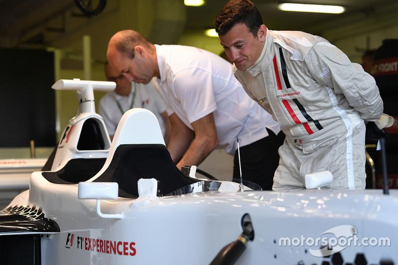 F1 Experiences 2-Seater passenger Will Buxton, NBC TV Presenter