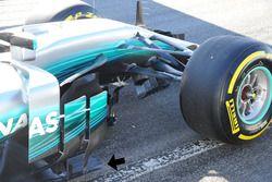 Mercedes AMG F1 W08, turning vanes
