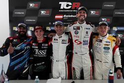 Stefano Comini, Comtoyou Racing, Audi RS3 LMS; Attila Tassi, M1RA, Honda Civic TCR; Roberto Colciago