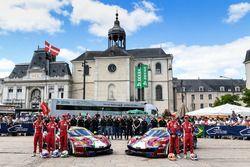 #51 AF Corse Ferrari 488 GTE: James Calado, Alessandro Pier Guidi, Michele Rugolo, #71 AF Corse Ferrari 488 GTE: Davide Rigon, Sam Bird, Miguel Molina