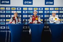 Press Conference: Mike Rockenfeller, Audi Sport Team Phoenix, Audi RS 5 DTM, René Rast, Audi Sport Team Rosberg, Audi RS 5 DTM, Marco Wittmann, BMW Team RMG, BMW M4 DTM
