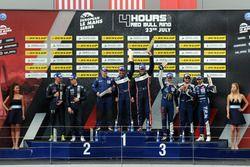 P3 Podium: Race winners #9 AT Racing, Ligier JS P3 - Nissan: Alexander Talkanitsa Sr., Alexander Talkanitsa Jr., Mikkel Jensen, second place #2 United Autosports, Ligier JS P3 - Nissan: John Falb, Sean Rayhall, third place #18 M.Racing - YMR, Ligier JS P3 - Nissan: Alexandre Cougnaud, Antoine Jung, Romano Ricci