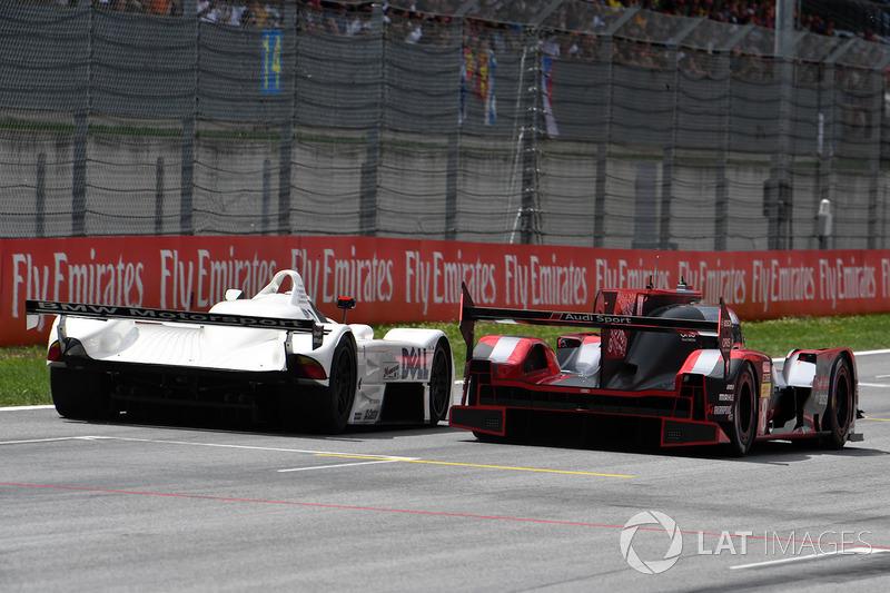 Gerhard Berger, BMW V12 LMR; Tom Kristensen, Audi R18