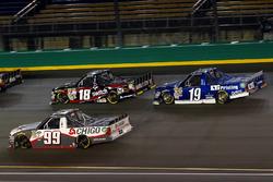 Brandon Jones, CHIGO Chevrolet Silverado, Noah Gragson, Kyle Busch Motorsports Toyota and Austin Cin