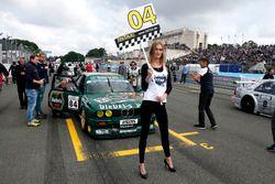 Grid girl of Richard Weber, BMW E30 M3 DTM