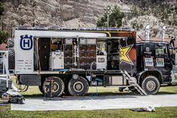 Truck of Husqvarna Factory Racing