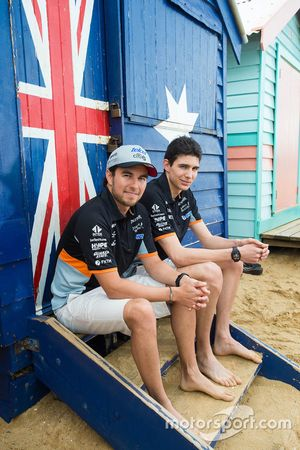 Esteban Ocon, Sergio Perez, Sahara Force India F1 Team