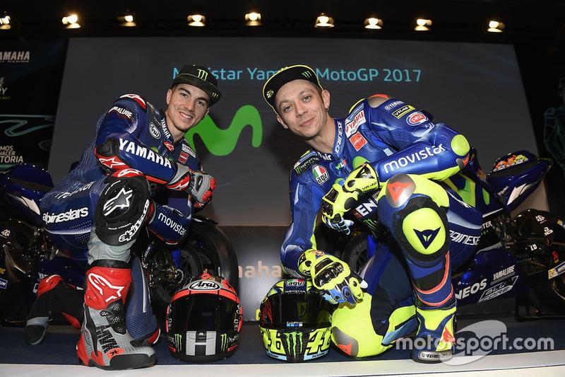 Valentino Rossi y Maverick Viñales, Yamaha Factory Racing, 2017