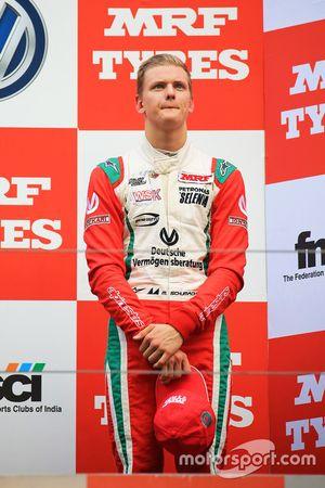 Podium: third place Mick Schumacher