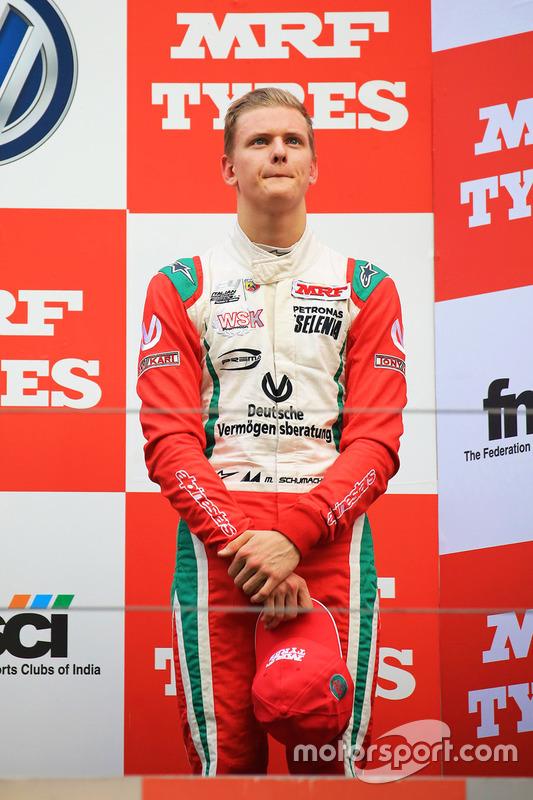 Podio: tercer lugar  Mick Schumacher