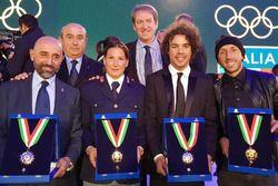 Tony Cairoli, Kiara Fontanesi y Franco Morbidelli Colla de oro del CONI