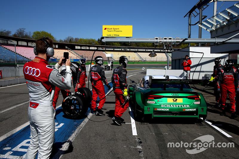 Mike Rockenfeller, Audi Sport Team Phoenix, Audi RS 5 DTM and René Rast, Audi Sport Team Rosberg is