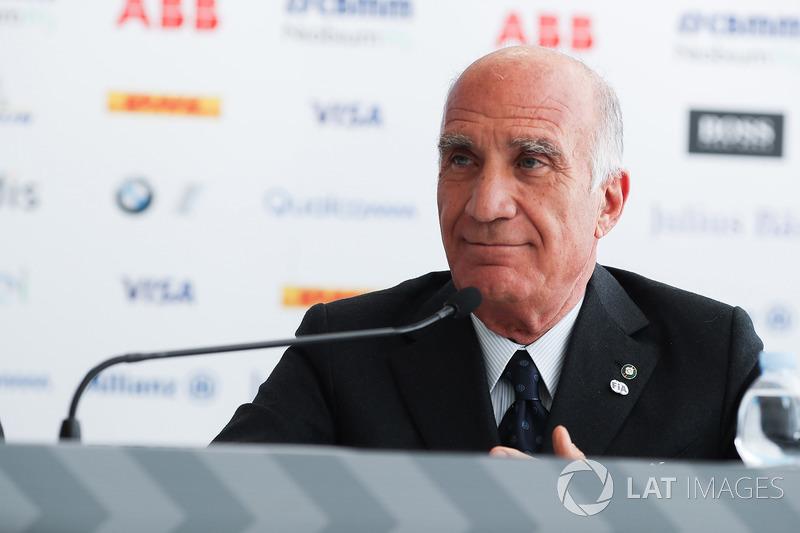 Angelo Sticchi Damiani, Presidente dell'ACI, nella conferenza stampa