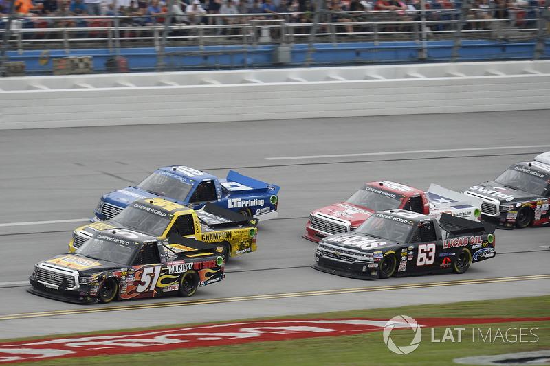 Myatt Snider, Kyle Busch Motorsports Toyota, Grant Enfinger, ThorSport Racing Toyota, Austin Cindric