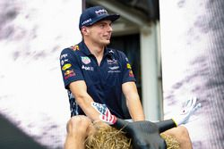 Max Verstappen, Red Bull, on the F1 stage