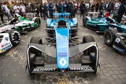 Formula E cars on display in Rome