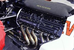 The Footwork FA12 Porsche engine