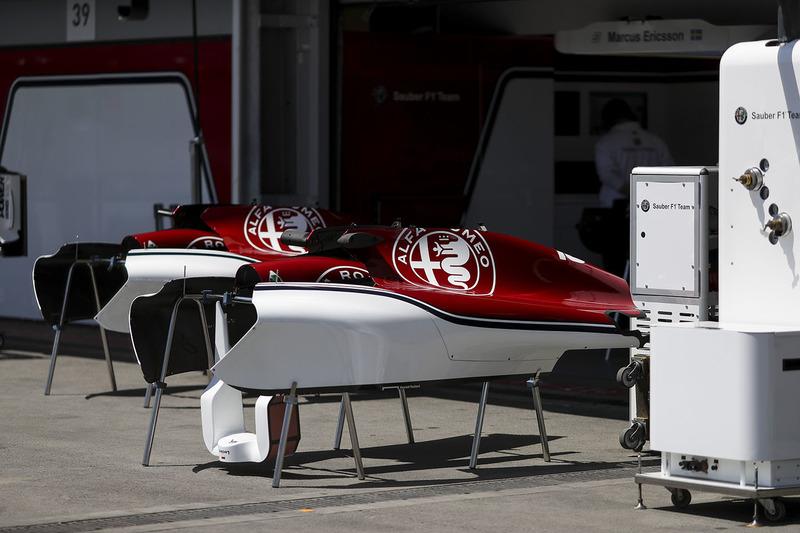 Sauber F1 bodywork