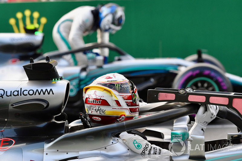 Lewis Hamilton, Mercedes-AMG F1 W09 EQ Power ve Valtteri Bottas, Mercedes-AMG F1 W09 EQ Power