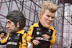 Des caricatures de Carlos Sainz Jr., Renault Sport F1 Team, Nico Hulkenberg, Renault Sport F1 Team