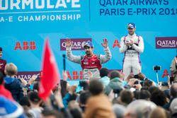 Lucas di Grassi, Audi Sport ABT Schaeffler, finishes 2nd, Sam Bird, DS Virgin Racing, in 3rd