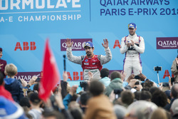 Lucas di Grassi, Audi Sport ABT Schaeffler, finishes 2nd, Sam Bird, DS Virgin Racing, in 3rd