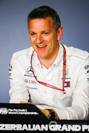 James Allison, Director Técnico, Mercedes AMG, en una conferencia de prensa