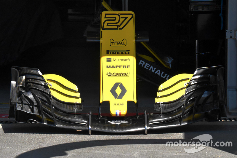 The front wing of Renault Sport F1 Team's R.S18