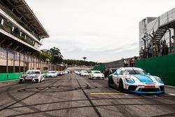 Grid da Porsche GT3 Cup em Interlagos