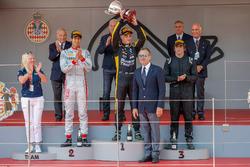Podium: Race winner Artem Markelov, RUSSIAN TIME, second place Sean Gelael, PREMA Racing, third place Roberto Merhi, MP Motorsport