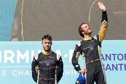 Jean-Eric Vergne, Techeetah, Andre Lotterer, Techeetah make up the first 1st 2nd finish in Formula E