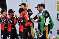 #5 Action Express Racing Cadillac DPi, P: Joao Barbosa, Christian Fittipaldi, Filipe Albuquerque, #31 Action Express Racing Cadillac DPi, P: Eric Curran, Mike Conway, Stuart Middleton, Felipe Nasr