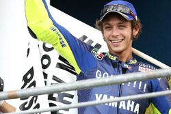 Podium: race winnaar Valentino Rossi