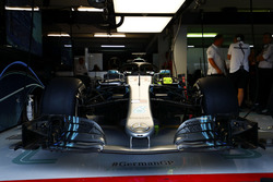 La voiture de Lewis Hamilton Mercedes AMG F1 W09