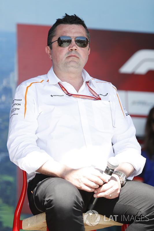 Eric Boullier, Racing Director, McLaren, on stage