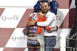 Claudio Domenicali, Ducati Team, winner Andrea Dovizioso, Ducati Team