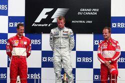 Podio: ganador de la carrera Kimi Raikkonen, McLaren, segundo lugar Michael Schumacher, Ferrari, tercer puesto Rubens Barrichello, Ferrari