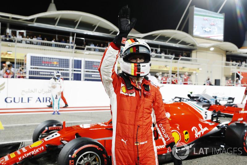 Ganador de la pole Sebastian Vettel, Ferrari SF71H